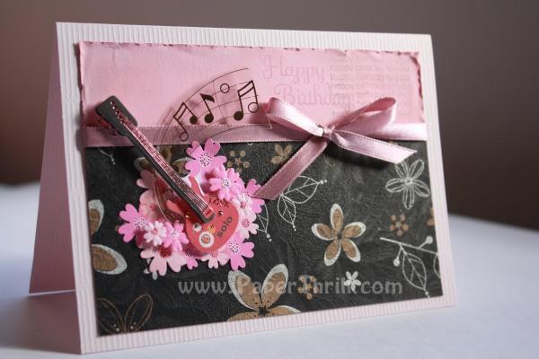 Birthday Guitar Handmade Card Malaysia Wedding Invitations