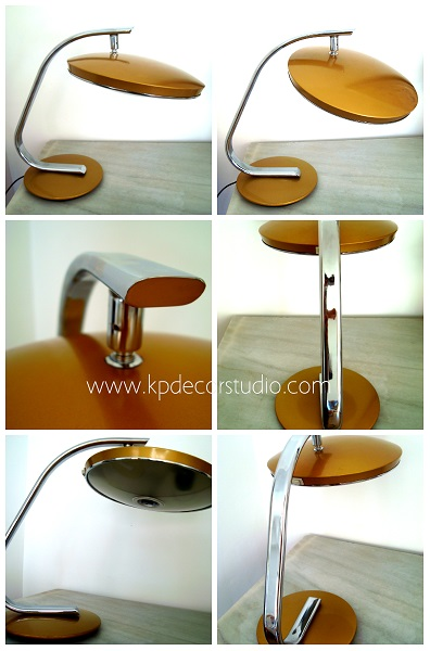 Comprar original lámpara de mesa antiguas de los años 50 y 60 marca FASE modelo 520 C color dorado