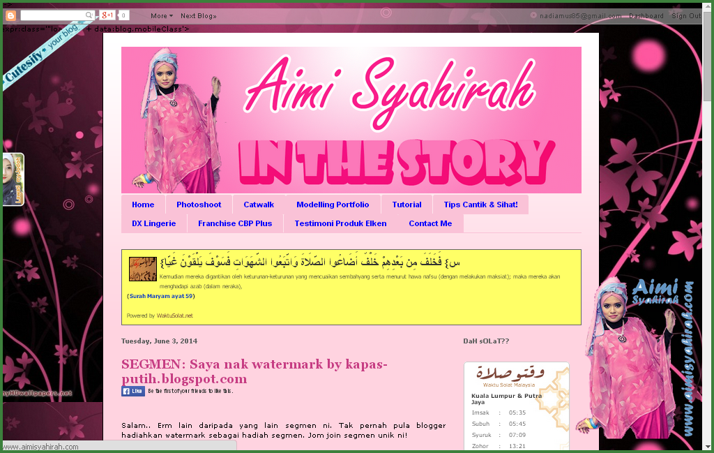 Lucky blogger no 17 - Segmen: Saya nak watermark by kapas-putih.blogspot.com