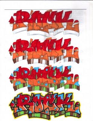 Aprende a Hacer Letras de Graffiti ROCK