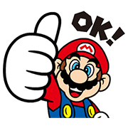 Talking Super Mario Animated Stickers