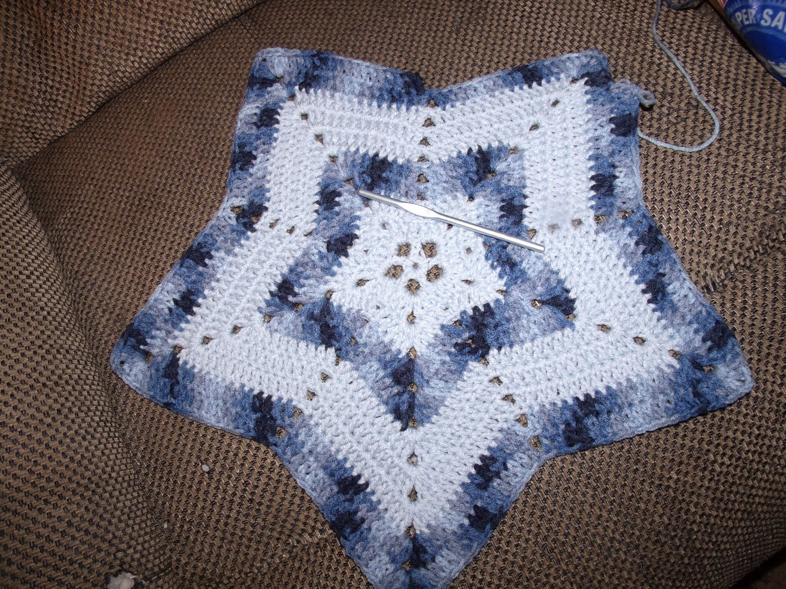Family, Books and Crochet...Oh My!: Star Blanket for Boy Blue