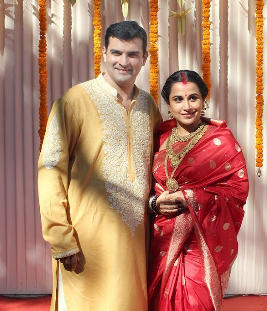 Vidya Balan Marriage Pictures Ceremony Latest News Images/Photos/Pics films Siddharth Roy Married