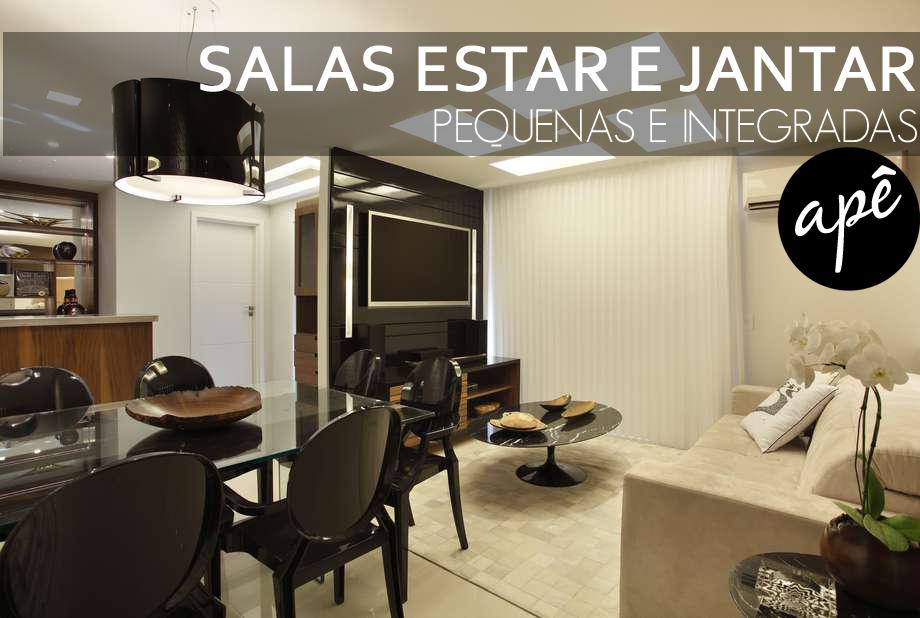 Sala De Estar E Tv Juntos ~ Salas de estar e jantar pequenas e integradas  veja dicas + modelos