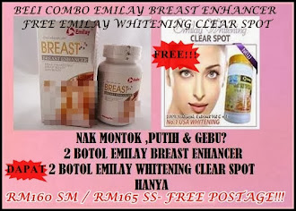 BELI 2 EMILAY BREAST ENHANCER DAPAT 2 EMILAY WHITENING CLEAR SPOT