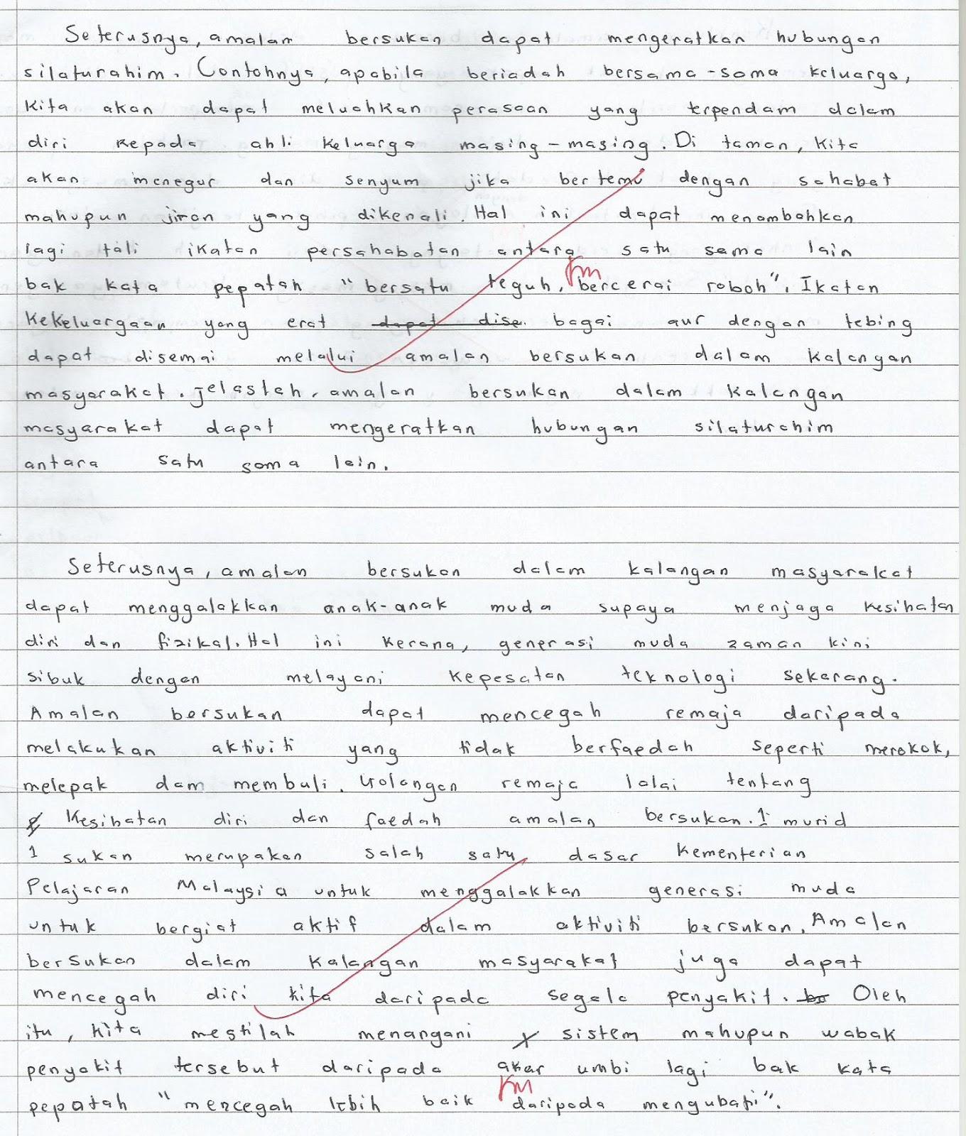 Contoh Karangan PPT 2013 Tingkatan 5.