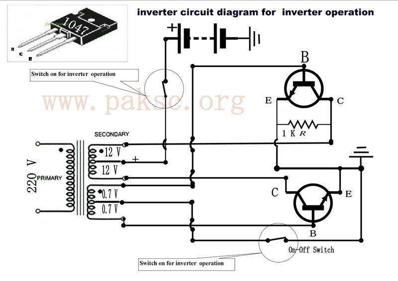 make your own 50 to 500 watt power inverter ups in urdu physics rh physicstipss blogspot com Complete Circuit Diagram Rectifier Circuit Diagram