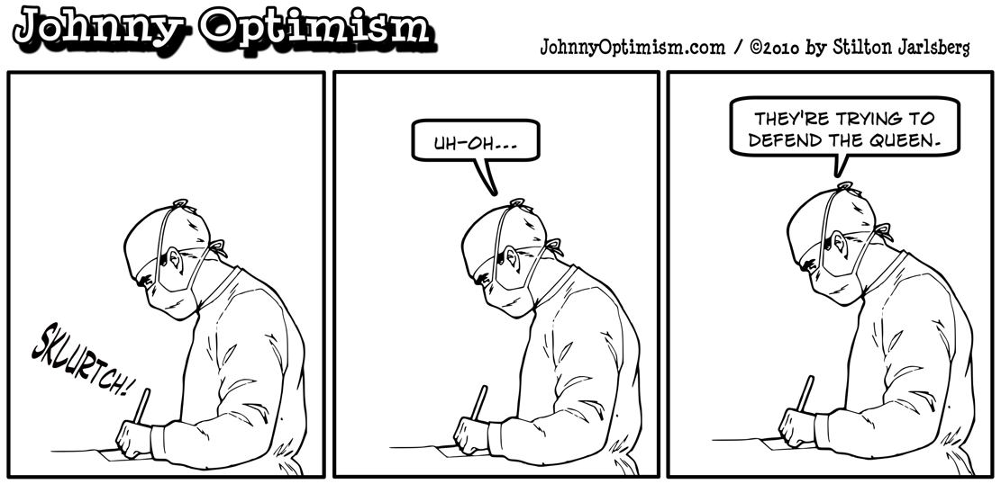 Johnny Optimism, johnnyoptimism, medical humor, surgeon