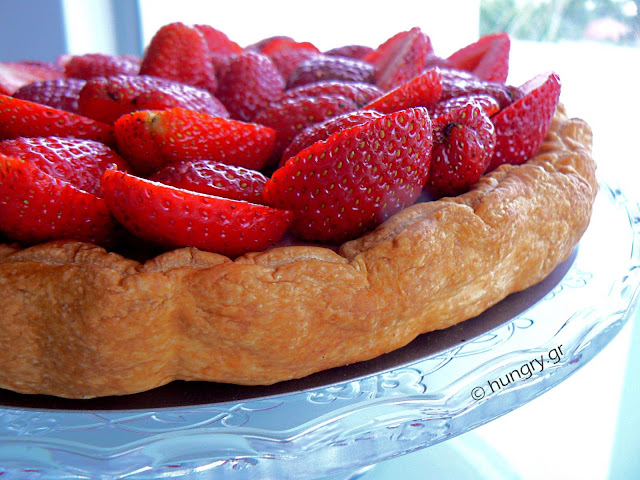 Strawberry Tart with White Chocolate