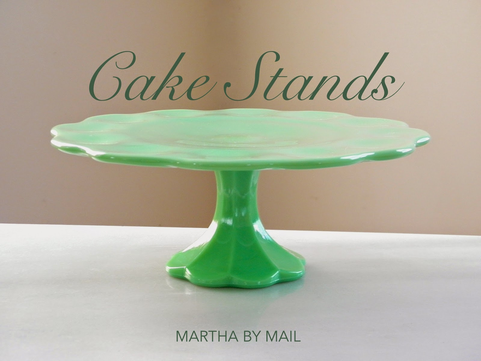 The Grape Leaf Plates are among the lightest in color while the Scalloped Cake Stand runs on the darker side. As a collector of this glassware ... & Good Things by David: Marthau0027s Green Glass