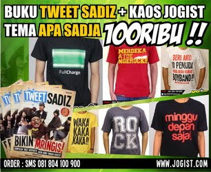 BUKU TWEETSADIZ+KAOS JOGIST