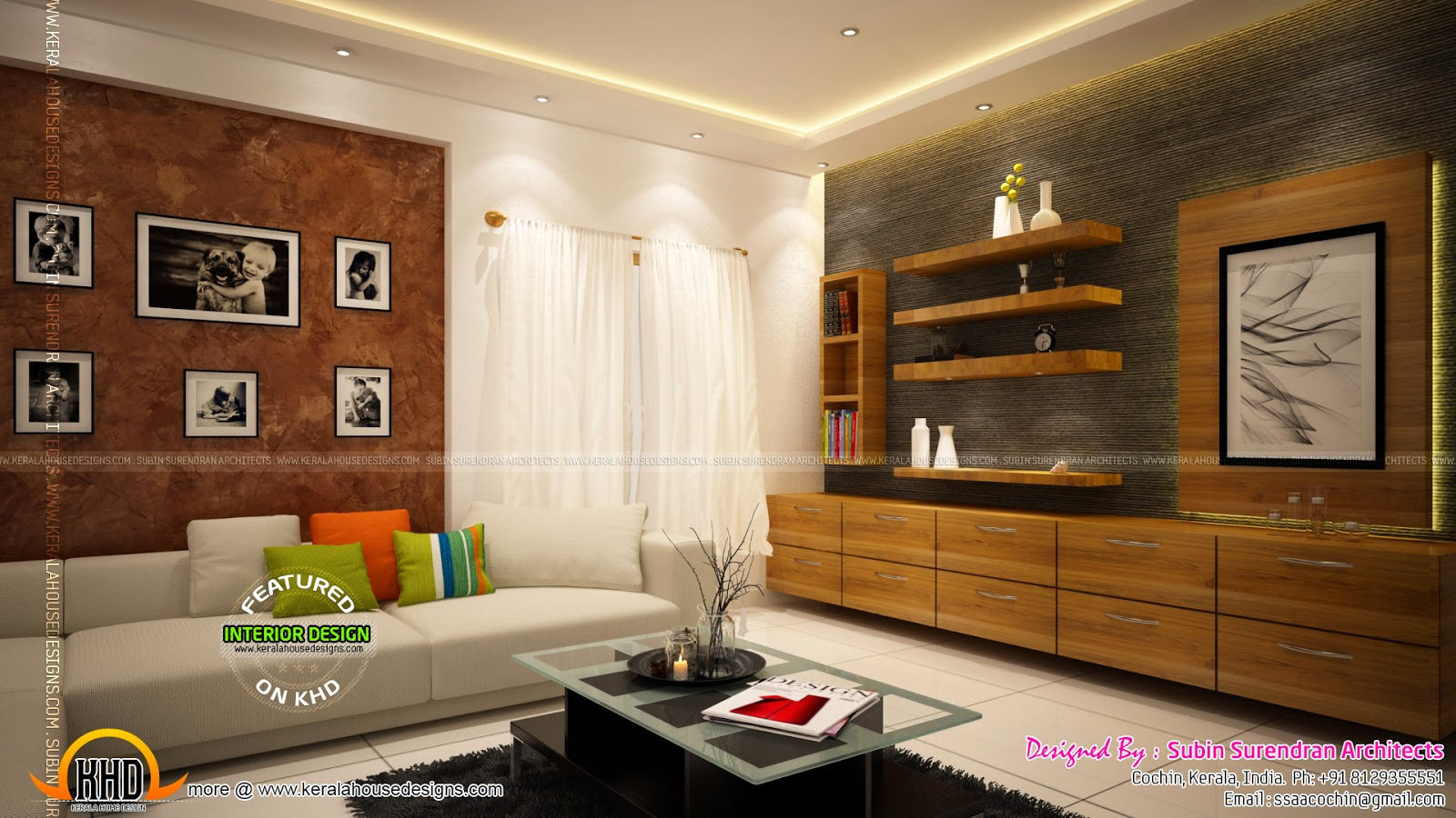 Kerala style low cost double storied home keralahousedesigns - Low cost living room design ideas ...