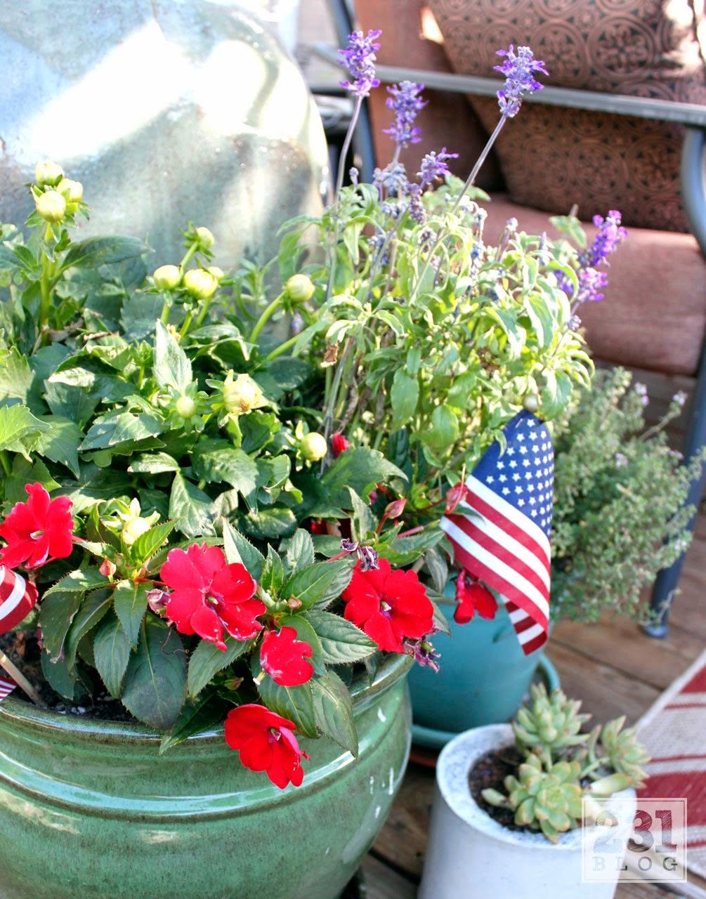 deck container gardening