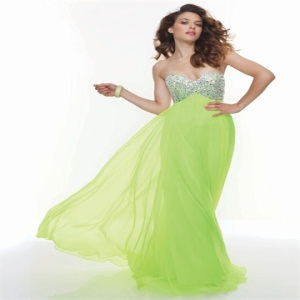 Sweetheart Neon Lime Dress