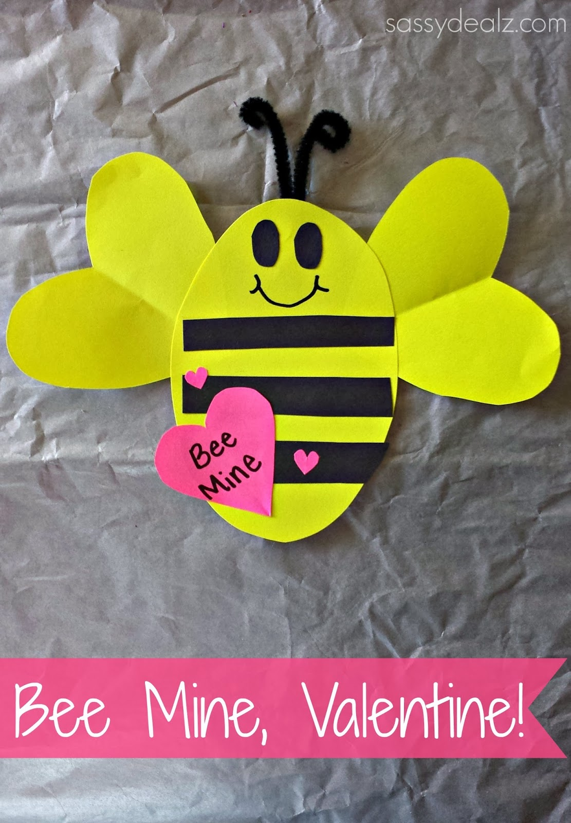 Valentine Kid Craft Ideas Part - 47: Bee Mine Valentine Craft
