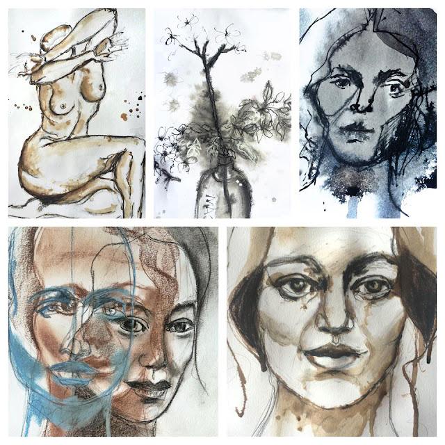 Sketch a day, Galia Alena, mixed media