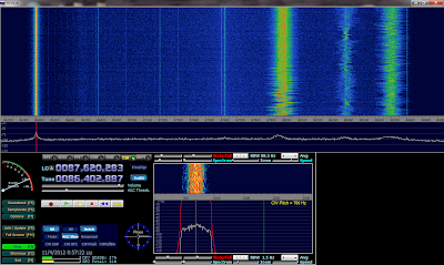 HDSDR receiving 86.4 MHz. Note that the signal is an artifact as explained in comments.