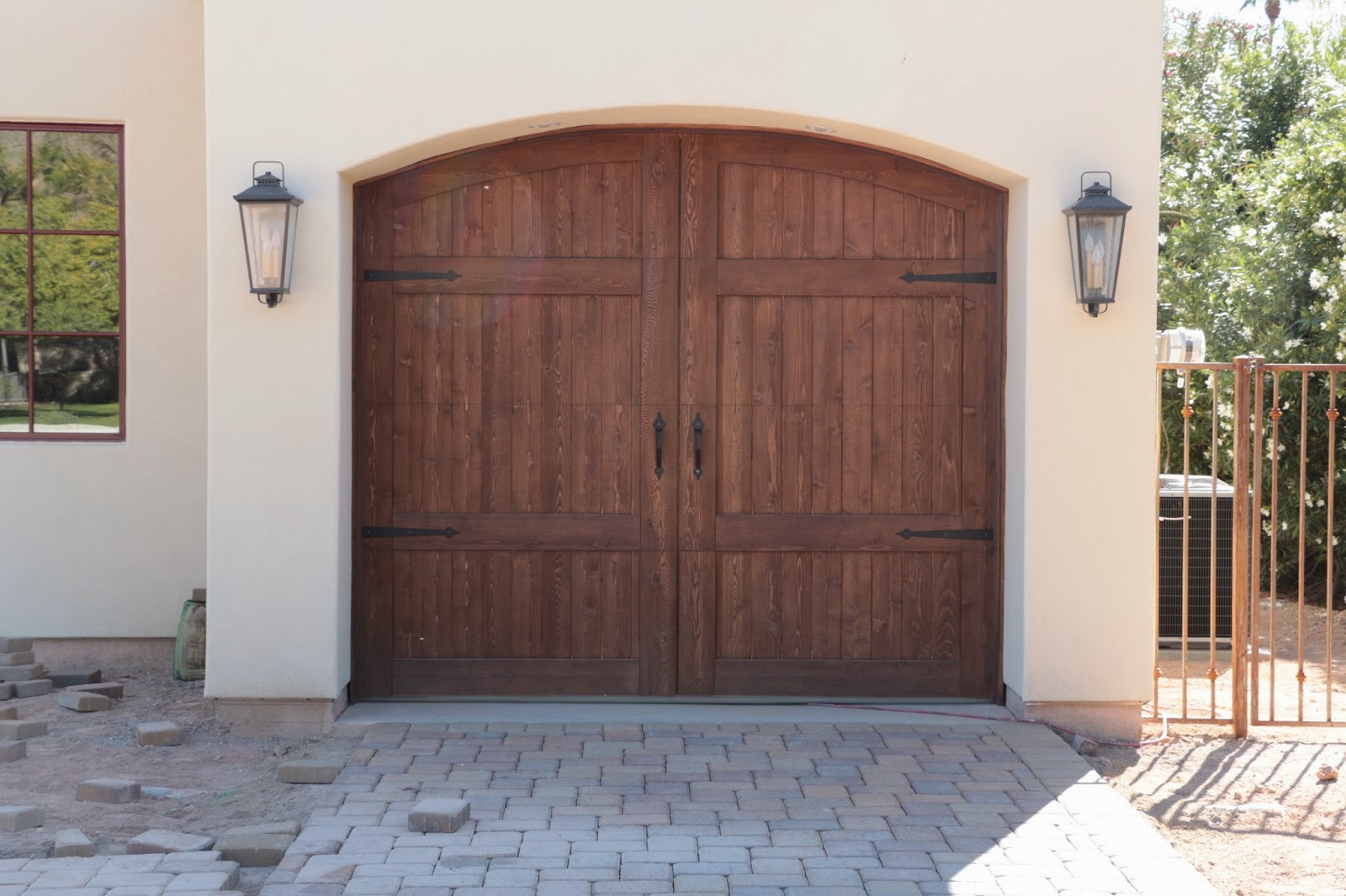 garage door hardware, cedar garage doors, wood garage door