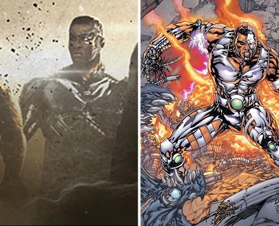 Dibujo De Elfos Con Armadura Besandose la liga de la justicia: primera imagen oficial de cyborg y flash
