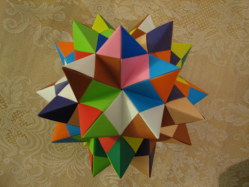 Origami Maniacs Origami Spiked Pentakis Dodecahedron By