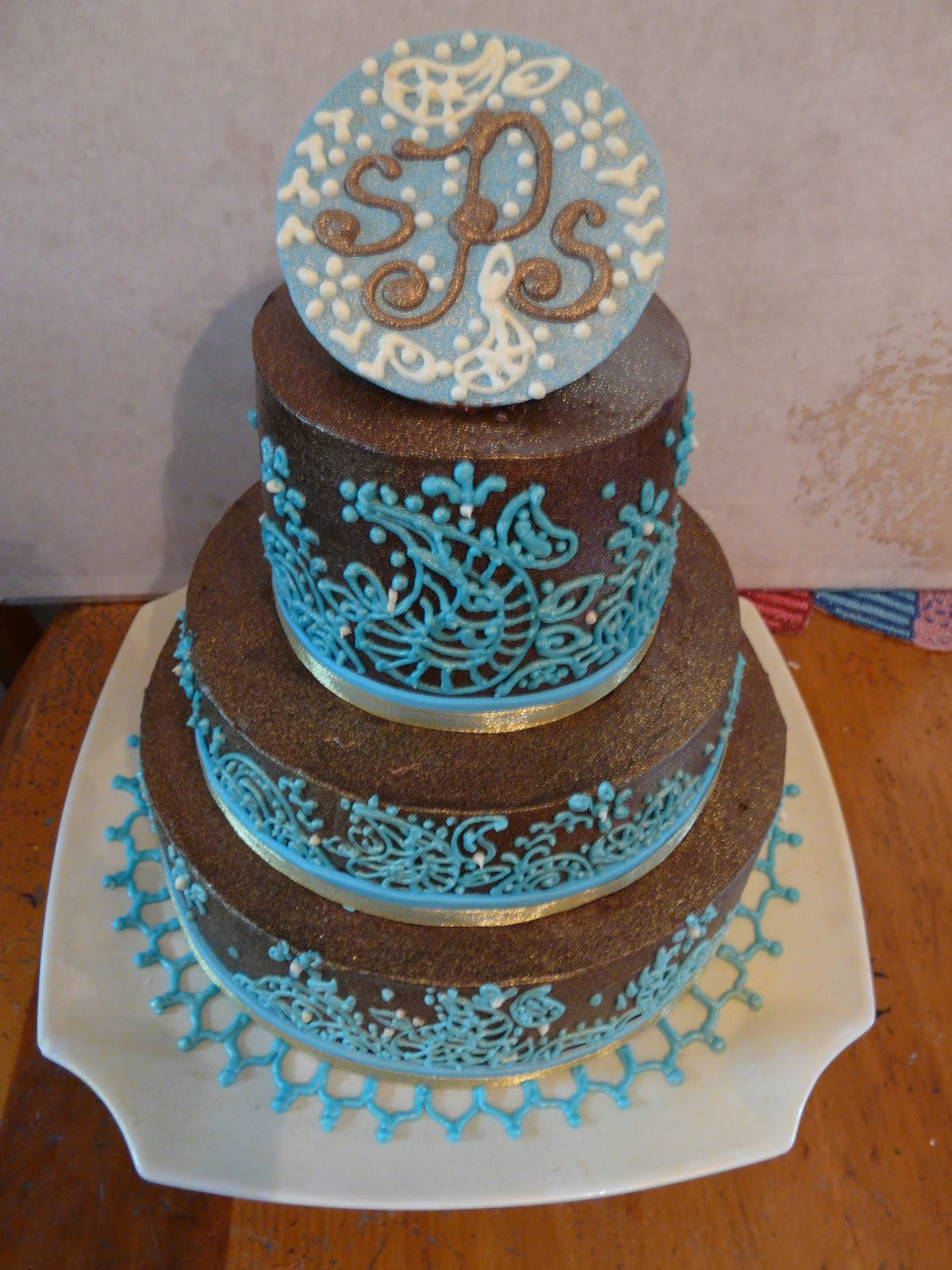 Mehndi Cake Designs : Sug·ar from the heart bakeshop henna cake design