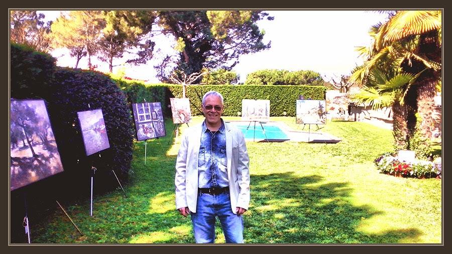 EXPOSICIONES-PINTURA-PINTOR-ERNEST DESCALS-PINEDA DE BAGES-ART AL JARDI-