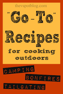 Easy recipes for cooking over the campfire or on the grill. #camping #recipes #tailgate