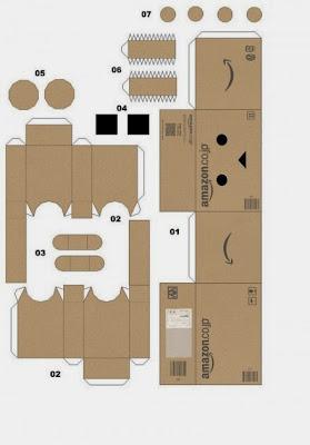 Danbo Medium Papercraft for Kids - Mas Adi