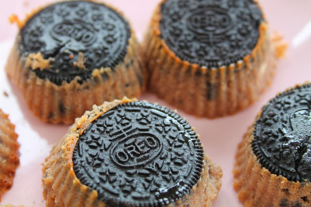 Upside Down Mini OREO Cheesecakes
