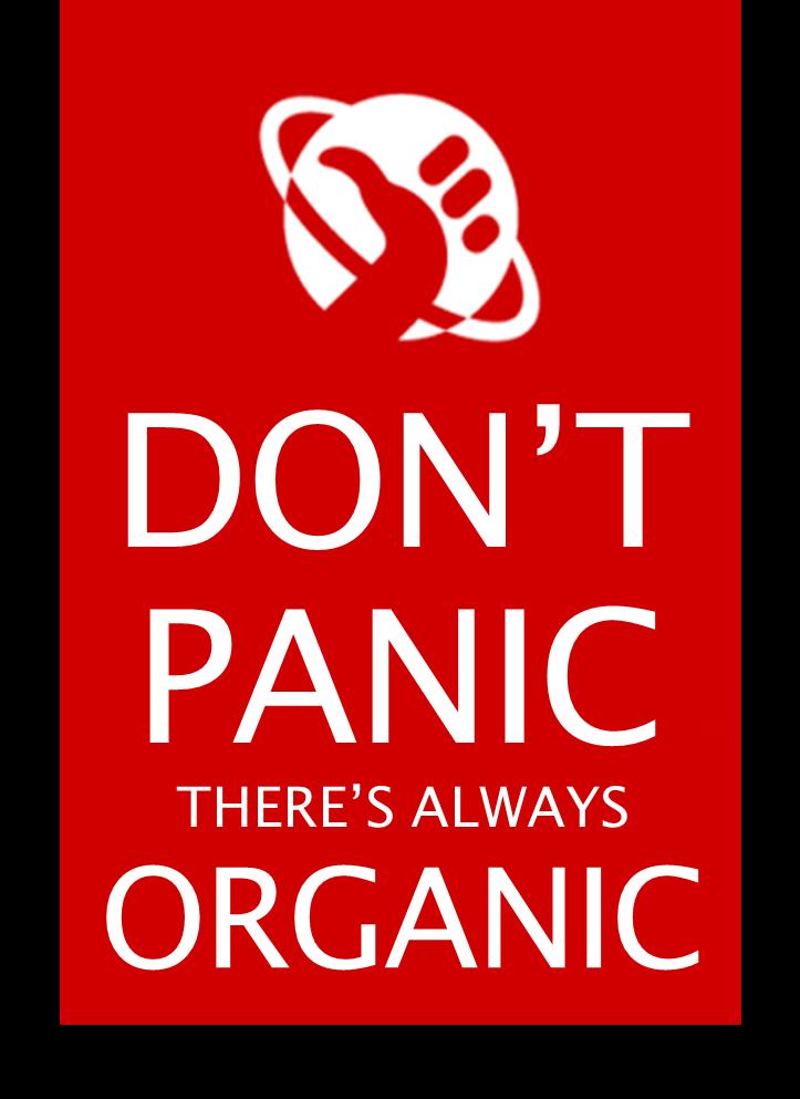 don't panic organic organisch biologisch keep calm