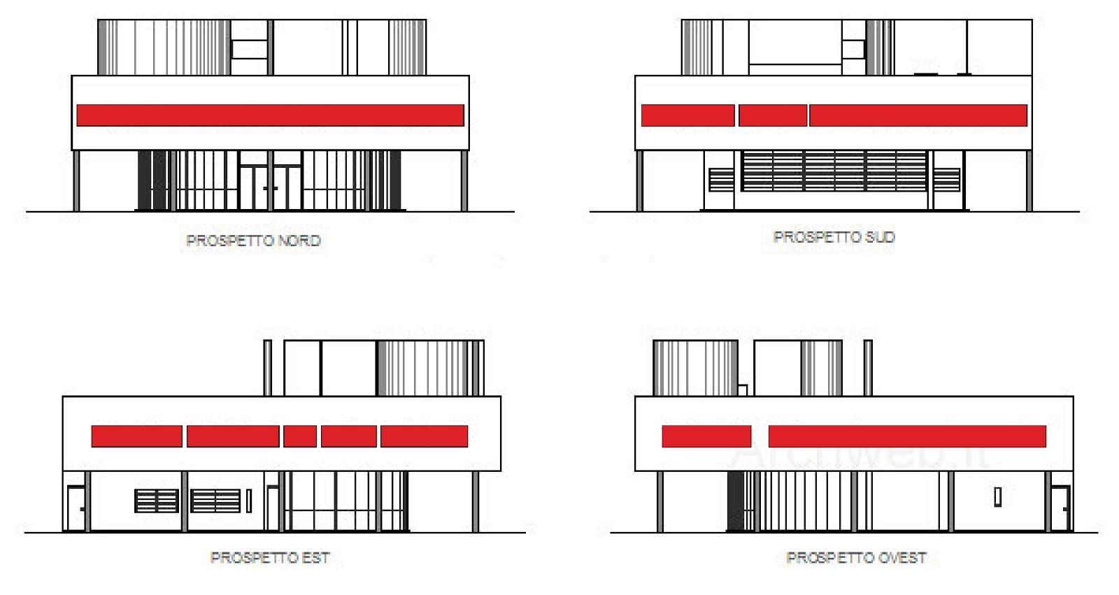 Villa Savoye Front Elevation : D modeling