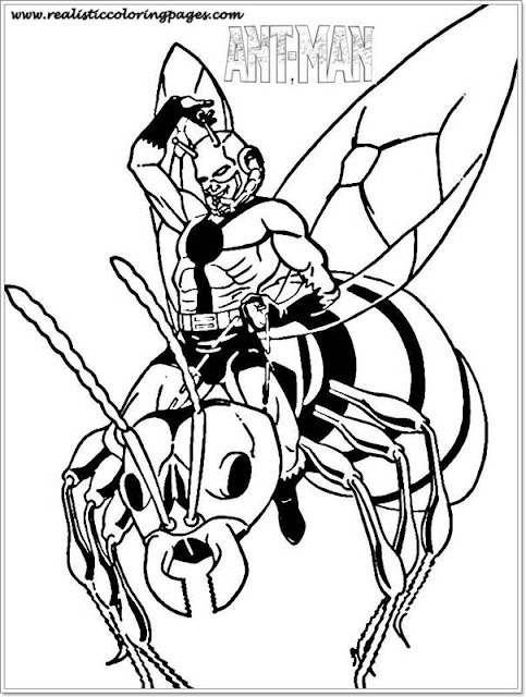 Free Printable Ant Man Coloring Pages