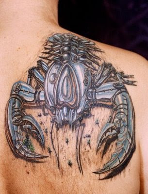 3D scorpion tattoo