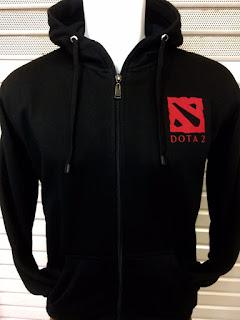 gambar desain terbaru jaket hoodie musim depan Jaket hoodie Dota 2 warna hitam terbaru di enkosa sport toko online terpercaya lokasi di jakarta