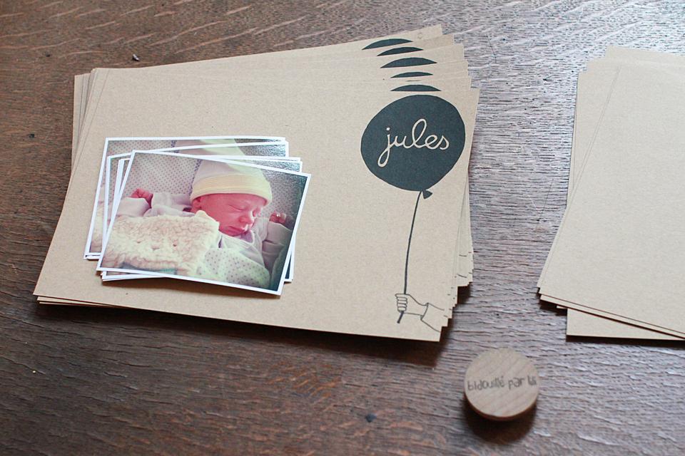 bidouill par lili du c t de l 39 atelier faire part pour ptit loup. Black Bedroom Furniture Sets. Home Design Ideas