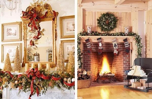 Chimeneas decoradas de navidad imagui - Chimeneas decoradas ...
