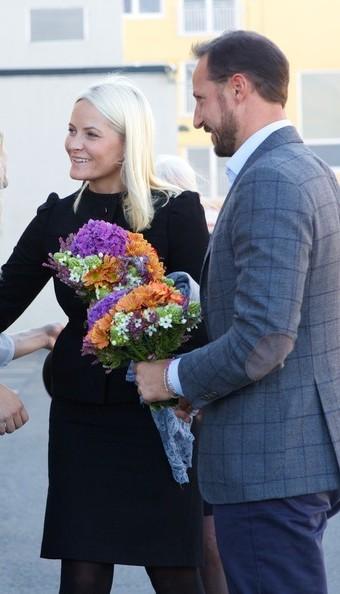 Le Prince Haakon et la Princesse Mette-Marit à Drammen