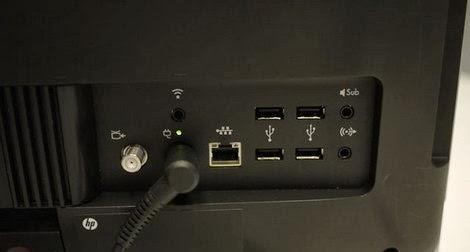 Расположение портов HP Omni27