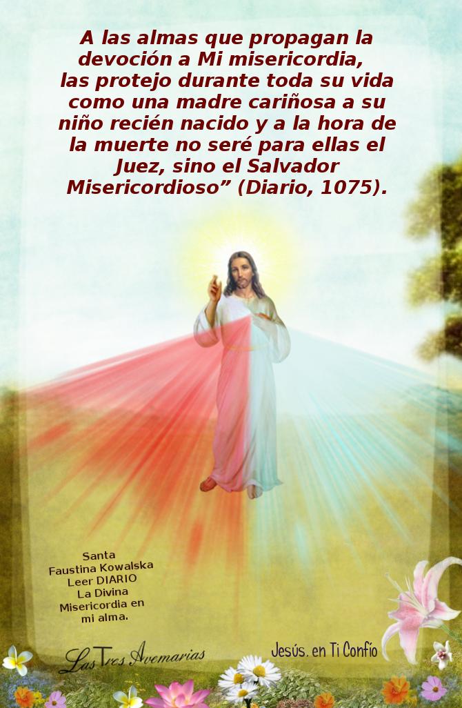imagen de jesus misericordioso con un mensaje para ti