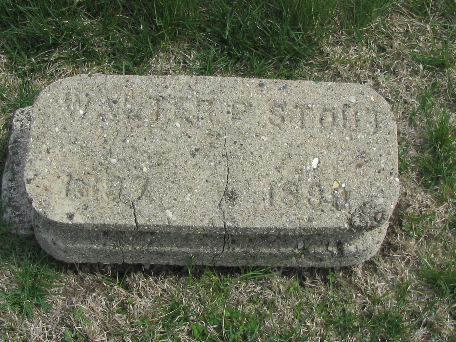 a grave interest what do cement grave markers tell us