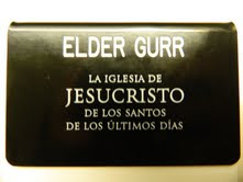 Elder Gurr's Name Tag