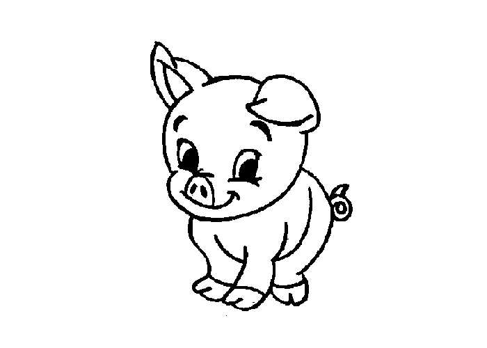 Cartoon Pig Coloring Pages - Cartoon Coloring Pages