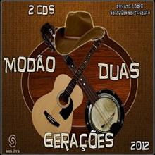 capa CD CD Modão Duas Gerações 2012