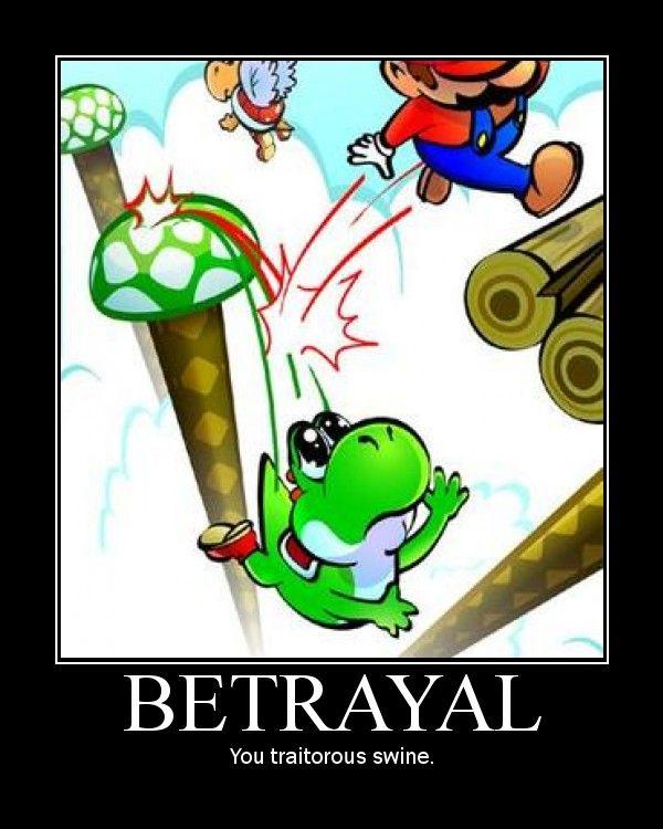 Mario fight yoshi