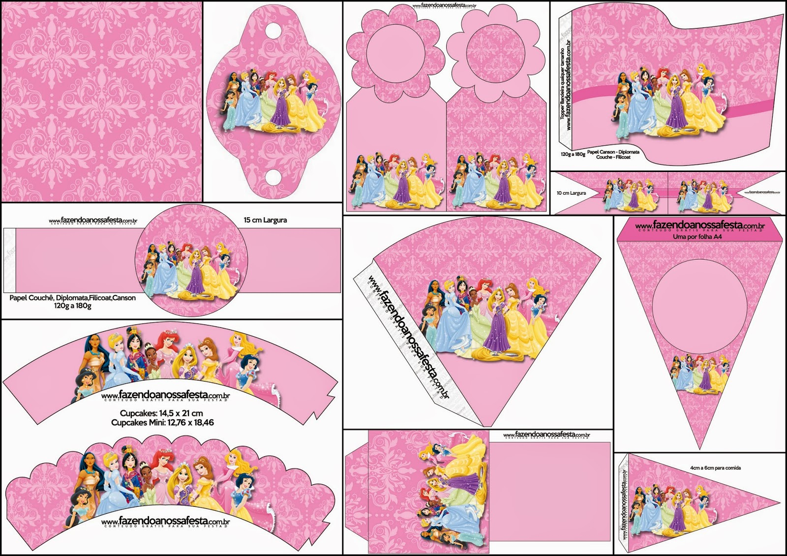 Disney Princess Party: Free Party Printables.