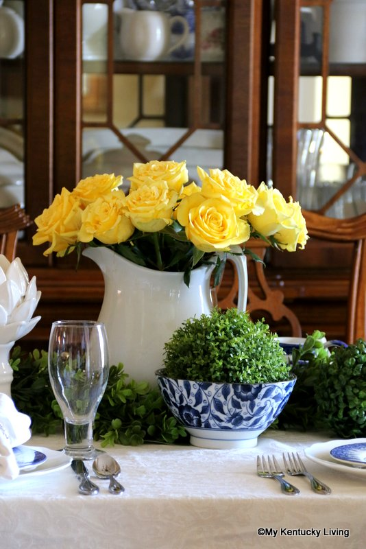 Roses Tablescape
