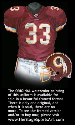 Washington Redskins 2005 uniform