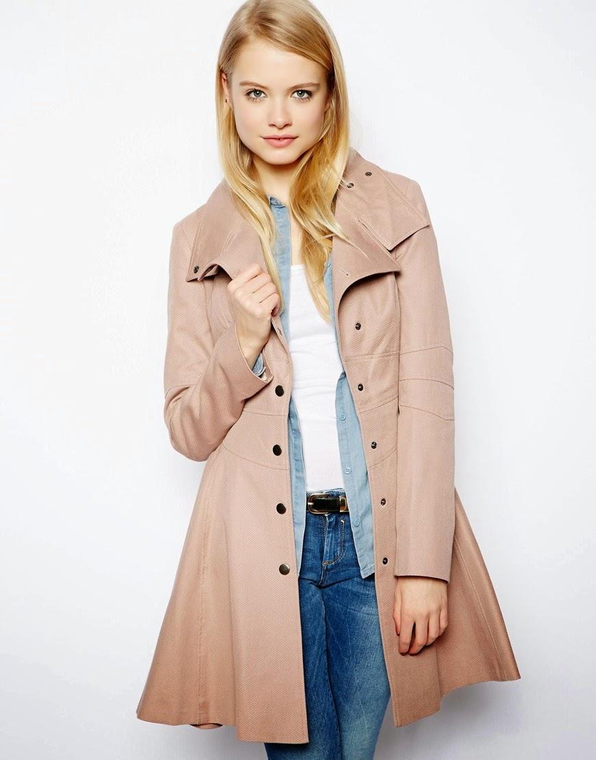 beige skater coat