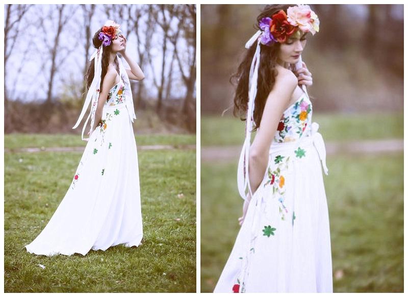 embroidered wedding dress folk atelier de couture jk slovenia wedding