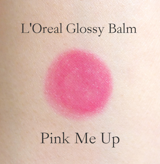L'Oreal Glossy Balm Pink Me Up swatch